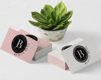 Premade Logo Design | Minimal Logo Design | Black Pink Minimalist Logo | Beauty Logo Design | Fashion Logo Design | Round Blog Logo Design