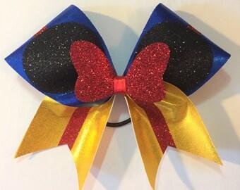 Disney inspired Minnie-Snow White Princess Themed Cheer Bow