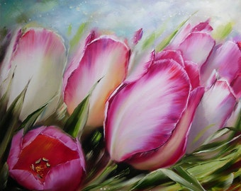 Spring awakening Oil Painting flowers Oil Painting Tulips
