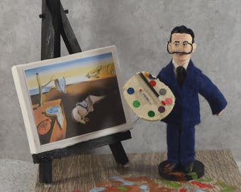 Salvador Dali Surrealism Artist Diorama Scene Spanish Painter
