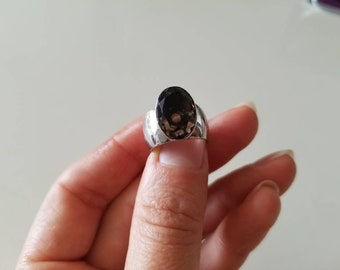 Brown Smoky Quartz Sterling Silver Fashion Ring, size 6