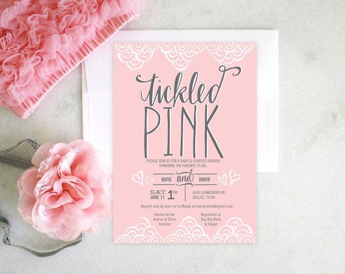 PRINTABLE Baby Shower Invitation   Tickled Pink