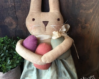 Primitive Easter Egg Hunt Bunny Rabbit PATTERN