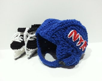 New York Rangers Helmet and Ice Skates, NHL Rangers, Hockey Skates