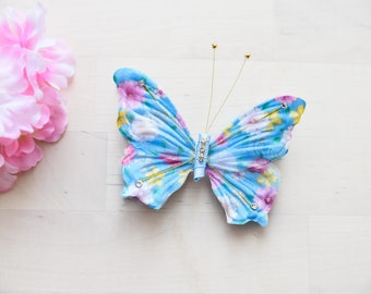 handmade Butterfly hairclip blue