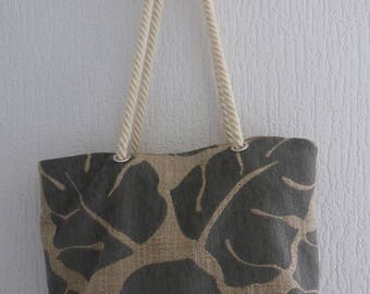 Bag fabric both sides, cord handle