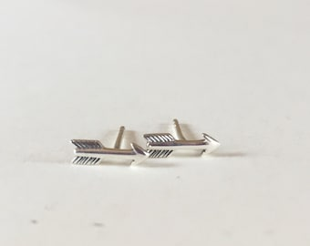 Silver Arrow Stud Earrings | Sterling Silver Arrow Earrings | Arrow Stud Earrings | Arrow Earrings | Sterling Silver Post Earring