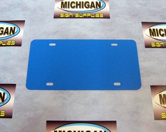 Colonial Blue Plastic License Plate Blank