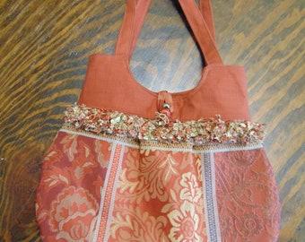 fabric handbag, shoulder bag