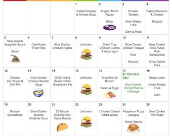 March 2017 Budget Menu Plan | Weekly Grocery List & Recipes | Budget Menu Plan | Monthly Menu | Meal Plan