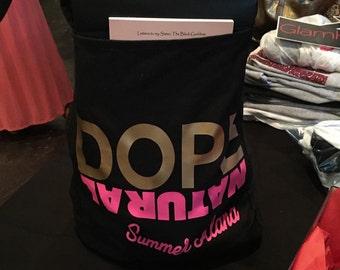 DOPE NATURAL black tote bag