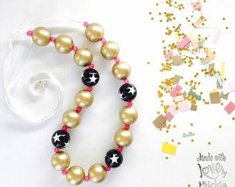 Bubblegum Necklace, Girls Stocking Stuffer, Barbie Necklace, My Little Pony Jewlrey, Winter Party Dress, Christmas Dress