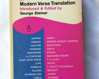 Modern Verse,Poetry Book,Poetry Translation,Classic Poetry,60s Poetry Book,Poetry Anthology,Literature Translation,Poetry Compilation