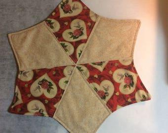 Valentine's Day candle mat mug rug
