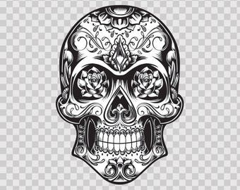 Decal Sticker Decal Sticker Skull Design Log  08763