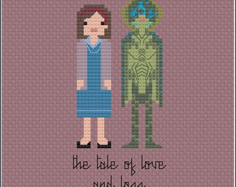 8-Bit Wonder - The Shape of Water PDF Cross-Stitch Pattern