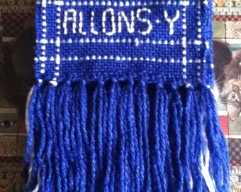 Blue and White Allons-y Scarf