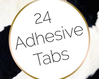 24 Press on Nail Adhesive Tabs | Nail Glue Alternative | Nail Adhesive | Fake Nails | Nail Stickers | Stick on Nails | Dippy Cow Nails