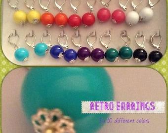 Retro Vintage Plastic Earrings for Pierced Ears