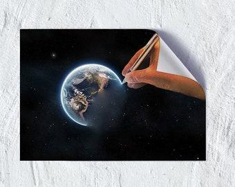 create your world, world, create, art, print, poster, wall art, world print, create world art, poster print, art poster, wall poster