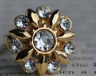 Golden Starburst Ring