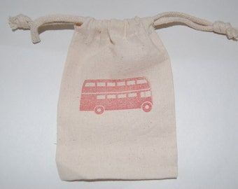 Double Decker Bus Favor Bags / Set of 30