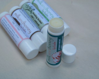 Peppermint Lip Balm - All natural with organic peppermint oil
