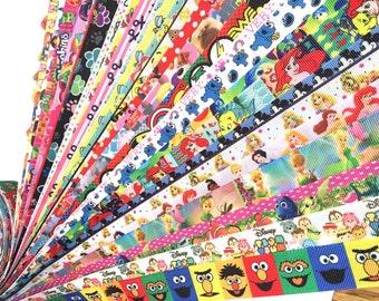 grab a bag Ribbon by the yard, grab bag ribbon, wholesale grosgrain ribbon, wholesale ribbon, wholesale printed ribbon for bows