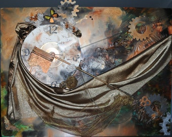 STEAM PUNK 101- Fine Art Original Collage