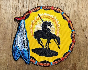Native American Indian Pride Dreamcatcher Chief Embroidered Iron On Patch New