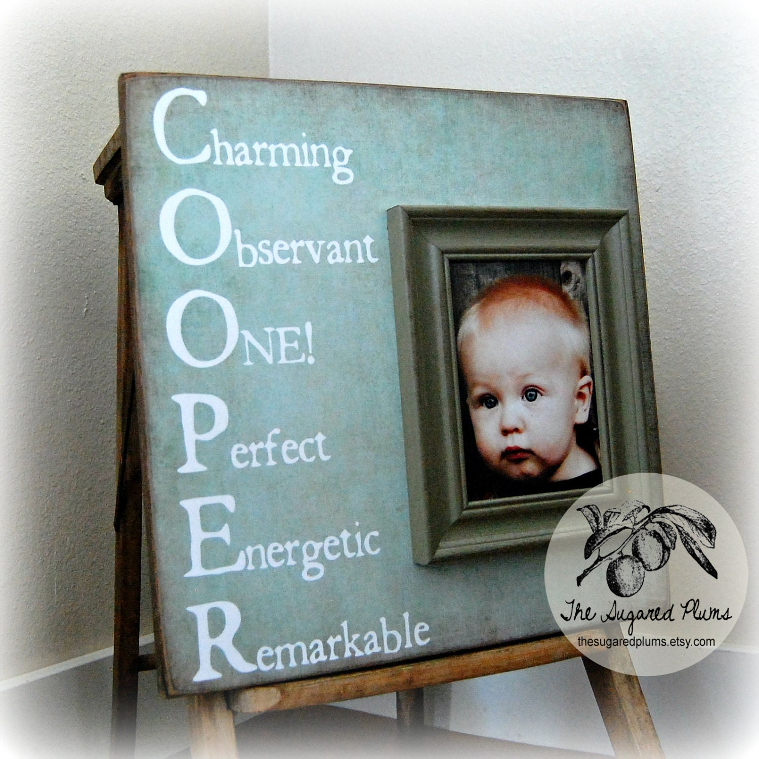 Baby name picture frame custom children photo zoom jeuxipadfo Images