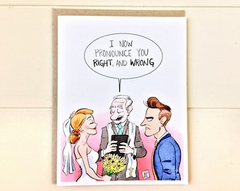 Funny Engagement Card, Funny Wedding Card, Funny Marriage Card, Funny Greeting Card, Bridal Shower Card, Wedding Card for Him, Engagement