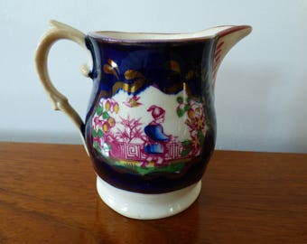 Staffordshire Chinoiserie Cream Jug