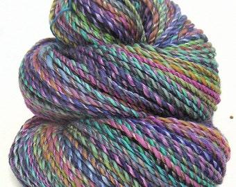 Handspun handdyed yarn Merino wool and tencel
