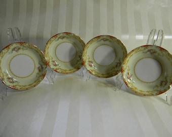 4 Antique Noritake China, LISMORE, 4 Berry Bowls, 1935