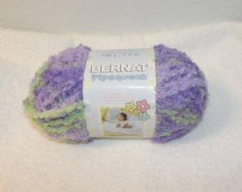Bernat Pipsquak Yarn, Pixie Pow Bernat Yarn, Purple Bernat Yarn, Green Baby Yarn, Baby Yarn, Bernat Yarn, Bernat Pipsqueak, Green and Purple