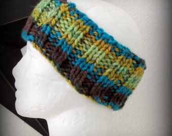 headband - knit headband - hand knit headband - hand made headband - ear warmer - knit ear warmer - Acrylic knit headband - striped headband