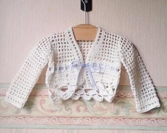 Crochet-weave sweater birth tg 0-6 months (art. 52)