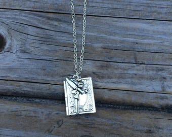 Fairy Locket Necklace, Book Necklace, Necklace, Gifts for her, Picture Locket, Jewelry, Bridesmaid Gift, Gifts for Mom
