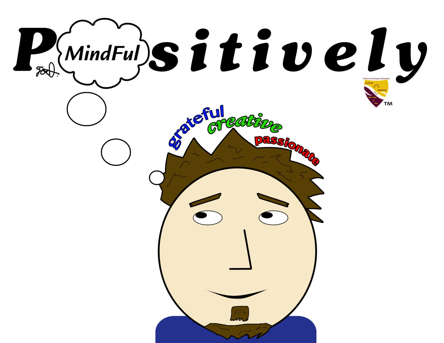 Positively Mindful (Male) Canvas Print