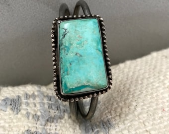 Vintage Turquoise Silver Cuff Bracelet