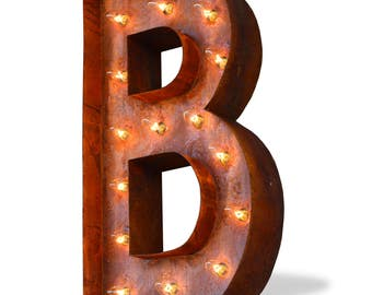 Iconics Marquee Light: Letter B