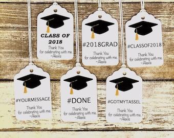 Graduation tag etsy graduation favor tags negle Gallery