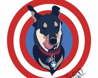Custom dog painting. Pet portrait. Dog portrait. Custom dog portrait. Custom pet portrait. Pet memorial. Pet gift art. Dog loss gift.