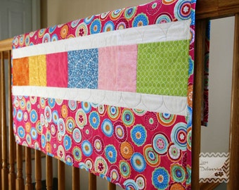 Bright Pink Baby Girl Quilt