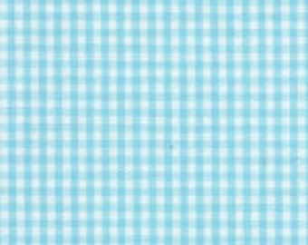 "HALF YARD 1/16"" SEAFOAM Fabric Finders Gingham"