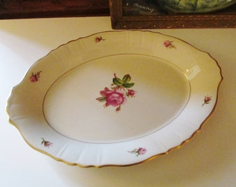 """Victoria by Syracuse 14"""" Platter, Romantic Tray, 1950's Dinnerware, Cottage Chic Tray/Platter"""