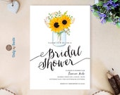 Rustic bridal shower invi...