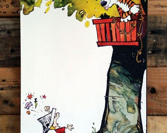 Calvin and Hobbes Tree Fort Mounted 8 x 10""