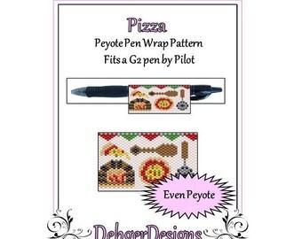 Bead Pattern Peyote(Pen Wrap/Cover)-Pizza